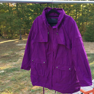 1X 22/24 taslon fleece lined ANORAK jacket grape79